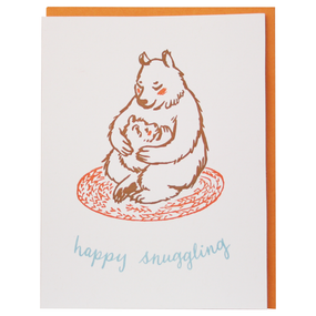 snuggling bears new baby greeting card