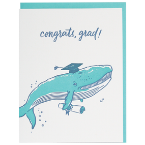 whale done graduation greeting card