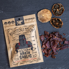 darth garlic biltong 2oz.