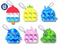 pop fidgety key chain, popsicle, pineapple, narwhal, shark, unicorn, dinosaur