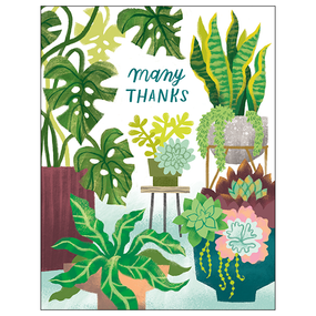 houseplants thank you card