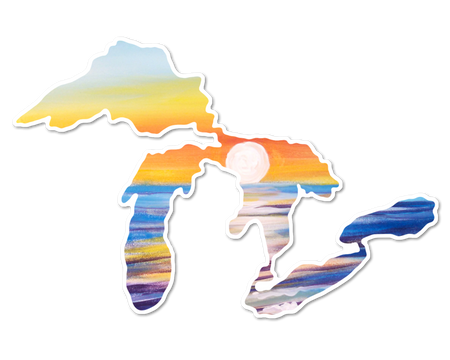 great lakes sunset vinyl decal