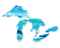 great lakes water vinyl decal