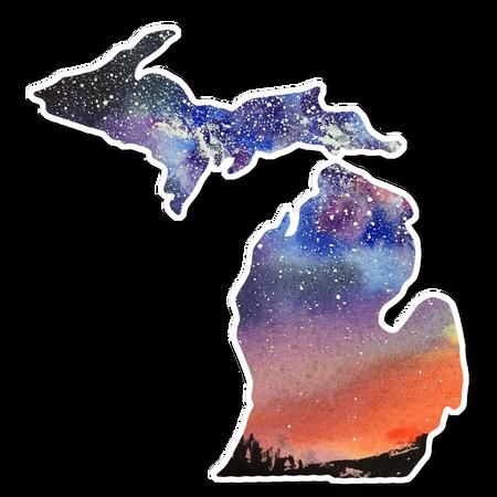 michigan night sky vinyl decal