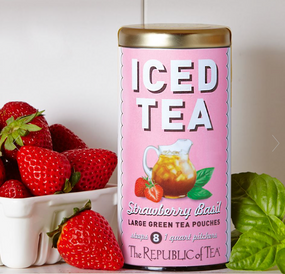 strawberry basil large iced tea pouches