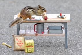 chipmunk baking greeting card