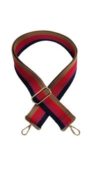 multi stripe guitar bag strap