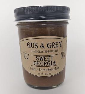 sweet georgia peach and brown sugar jam