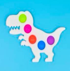 small neon dinosaur popper