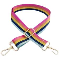 multi color pastel stripe guitar bag strap