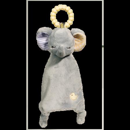 teething blanket, baby blanket, gift for baby shower, elephant, animal