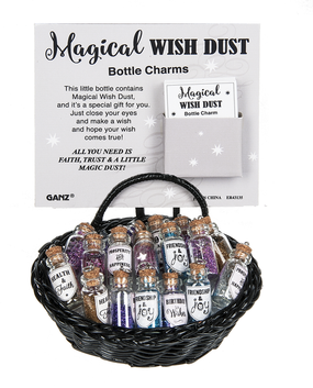 charm, wish dust, fairy dust, bottle