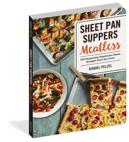 cookbook, recipe book, sheet pan, meatless