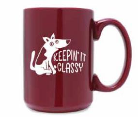 keepin' it classy dog mug, 15 oz.