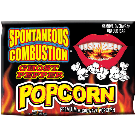 """Popcorn that """"explodes"""" in your mouth with Ghost Pepper Heat."""