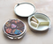 We have the perfect little trinket/pill box for any dog lover. measures 2.75″ diameter mirror on inside 3 removable compartments, so can be one large space if desired 3D printing© Allen Designs Designed by artist Michelle Allen