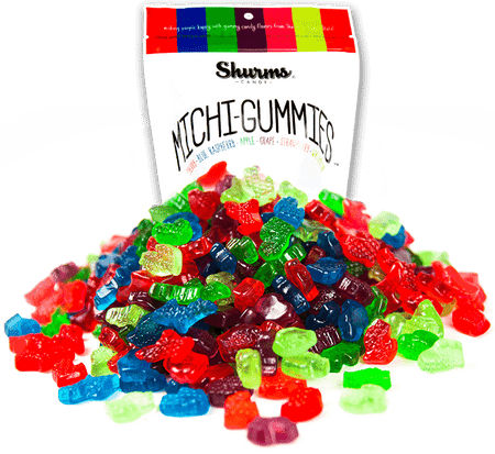 Shurms is a family owned company proudly based in Michigan. We just like things (especially candy) that make us happy! That's why we are sharing the flavors of the Great Lakes State's World Famous cherries, raspberries, apples, grapes, strawberries and watermelon. This assortment of gummies are as sweet as a Sleeping Bear Dunes vacation. Our candy can't make winters warmer, but if you're looking for a taste of summer up north, we've got you covered! Bring home the taste of Michigan, Mitten-Lovers! 8 oz package