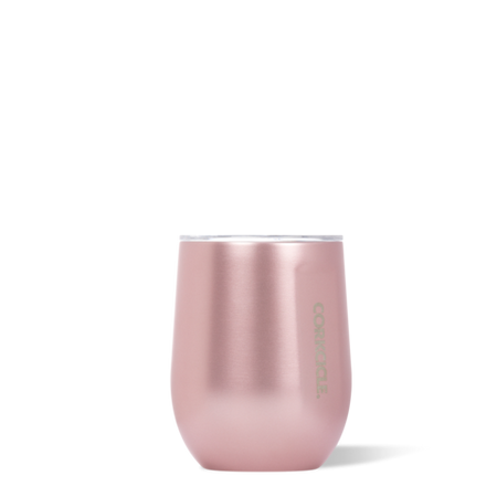 Stemless Wine Cup holds 12oz of your favorite beverage, from water to wine.