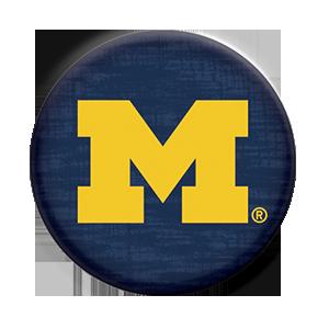 university of michigan logo popsocket