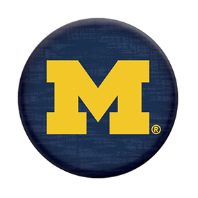 university of michigan logo popsocket