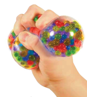 squeezy peezy ball, display