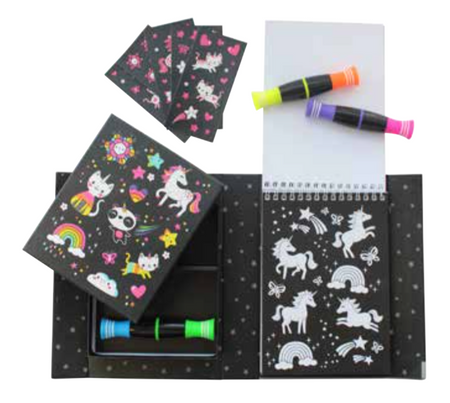 unicorn and friends neon coloring set
