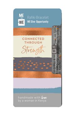 opportunity rafiki bracelet - connected through strength, gray beads