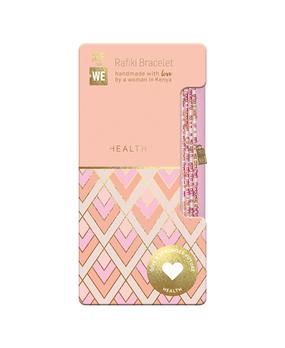 serenity rafiki bracelet – health, pink, pearly white beads