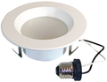 "Sylvania - 4"" 8W LED RT4 Retrofit Downlight Dimmable 92-CRI 675-Lumens 3000K White Baffle Reflector & Trim"