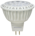 Sylvania - LED MR16 9W Dimmable 80-CRI 700-Lumen 3000K GU5.3 BiPin Base 35-Degree Beam Angle Flood - White Housing