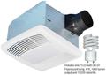 Airzone - Premium Fan Light 80-CFM (Fluorescent 23-Watt GU24 4100K - Lamp included) - SE80TL