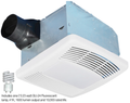 Airzone - Premium Fan Light - Fluorescent with Humidity Sensor 90-CFM (23-Watt GU24 4100K - Lamp included) - SE90TLH