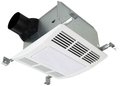 Airzone - Premium Ultra Quiet Fan, Light with Heater 1000-Watt (Fluorescent: 2 X 18-Watt GU24 5000K) 110-CFM - SE110XL
