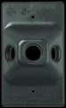 """RAB R3T 3 Hole Polycarbonate 4"""" Rectangular Cover"""