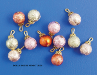 Twelve Christmas Tree Baubles