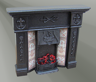 Windsor Fireplace Cast Iron Finish with Bulb (F15C)