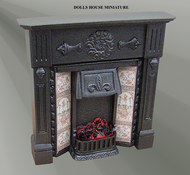 The Coalport Cast Iron Finish Fireplace with Bulb (F3C)