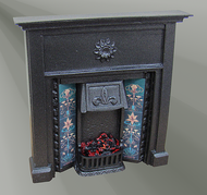 The Abbey Cast Iron Finish Fireplace with Bulb