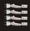 Pack of Four Single Extensions / Sockets