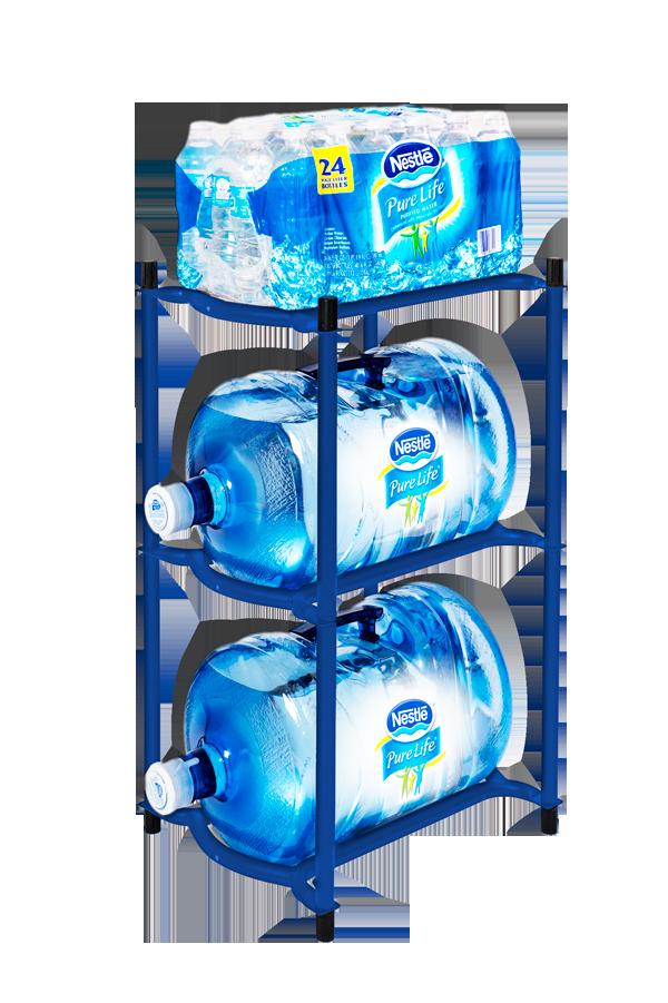 Nestlé Waters Deep Ocean Blue Modular Bottle Rack - Zephyr