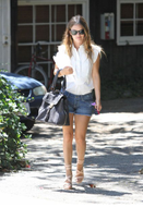 Paige premium Denim Silverlake Shorts w/ Repair in Brisa as seen on Rachel Bilson and Miley Cyrus