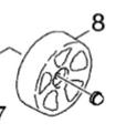 Wheel for CV30 & CV38 Vacuum
