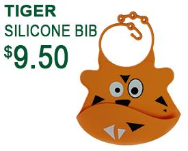 Tiger Silicone Baby Bib