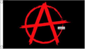Red Anarchy Flag 3x5' 90x150cm 100% Polyester