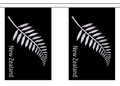 """New Zealand Fern Bunting 100% Polyester 6m long, 20x 6x9"""" Flags"""