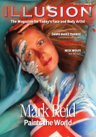 "Illusion 8 $29.95 · Exclusive interview with master face and body painter, Mark Reid from the USA. Mark tells Illusion all about his innovative style and his recent world tour. · Regular contributor Nick Wolfe shares his tips and skills in the ""must have"" boy face painting design step-by-step for 2009. · An insight into the unique style of Australian artist Ambah O'Brien. She explains how her style is achieved and shares an impressive never seen before gallery and step-by-step. ·Back by popular demand, Des Shupe shares an exclusive step-by-step design in Illusion. · We meet Shaul Moalem, who is the founder of the Make-Up Institute in Stockholm, Sweden. He tells Illusion his fascinating life and how he achieves success with his own product range. · Dutch artist Syl Verberk shares her fascination of painting on twins with incredible results.   · Informative business advice to assist you with all taxing issues. Plus 11 Step by Step designs."