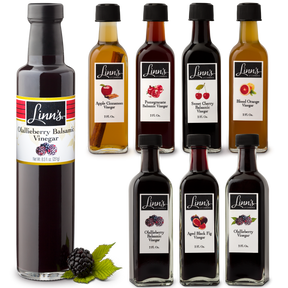 Linn's Flavored Vinegars: Olallieberry Balsamic, Aged Fig, Olalliberry, Apple Cinnamon, Pomegranante Balsamic, Sweet Cherry Balsamic, Blood Orange