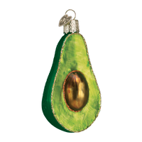 Avocado Glass Ornament