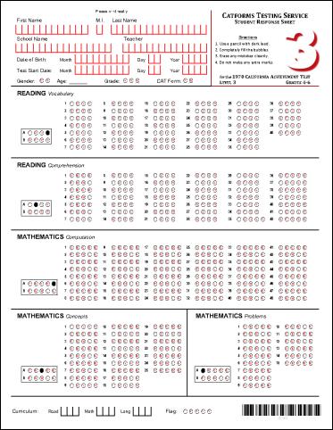 Level 3 Student Response Sheet