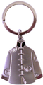Silver Man's Jacket Key Chain